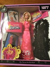 2008 MY FAVORITE BARBIE 1977 SUPERSTAR BARBIE DOLL WITH EXTRA GOWN & BOA! NRFB!