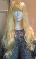 WOMEN'S LONG GOLDEN BLONDE STRAIGHT HAIR FULL WIG WITH BANGS ~ COSPLAY COSTUME