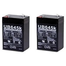 UPG 2 Pack - 6V 4.5AH SLA Battery Replaces cp0660 gp645 lcr6v4p hk-3fm4.5