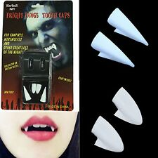 HALLOWEEN VAMPIRE FANGS CAPS TEETH MAKEUP FANCY DRESS DRACULA UNISEX FUN TIMES#