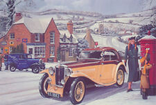 MG PA Airline Coupe Classic Vintage Car Christmas Xmas Card