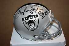 OAKLAND RAIDERS MARK VAN EEGHEN #30 SIGNED AFL MINI HELMET SB XI & SBXV CHAMPS