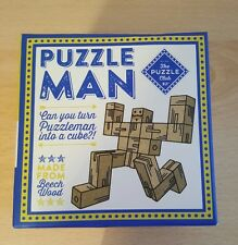 Puzzleman can you turn puzzleman into a cube made from beachwood novelty gift