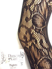 NEW WOMENS LADIES FLOWER PATTERNED FISHNET TIGHTS PANTYHOSE STOCKINGS ONE SIZE