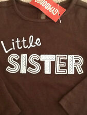 "GYMBOREE~NWT GIRLS BEST FRIEND ""LITTLE SISTER"" L/S TOP~sz. 2T"