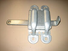 NEW SLIDING DOOR LATCH   PLATED STEEL  FOR GATE, GARAGE, BARN, CARWASH ETC.