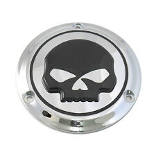 Black Skull V2 3-Hole Derby Cover for 1984-1998 Harley Softail Dyna Touring