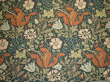 "WILLIAM MORRIS CURTAIN FABRIC DESIGN  ""Compton"" 3.6 METRES TERRACOTTA/MULTI"