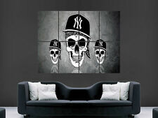 SKULLS ABSTRACT HAT CAP ART GRAFFITI NY  ART LARGE  BIG HUGE GIANT POSTER PRINT