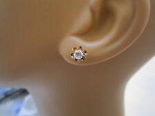 14k Solid Yellow Gold Buttercup Prong Set 1/2ctw Diamond Solitaire Stud Earrings