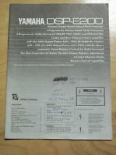 Original Owner / User Manual for the Yamaha DSP-E200 Field Processor~Not Stolen