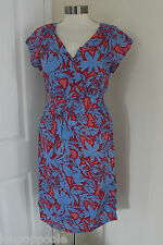 size 14 red and blue dress from white stuff brand new