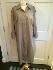 Authentic Burberrys' Khaki Tan Rain Trench Coat Nova Check Sz 10 Long EUC