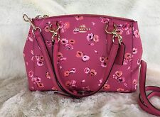 NWT COACH Small Dahlia Wildflower Mini Christie Carryall Satchel Handbag F37421