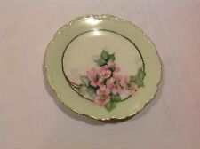 Vignaud Limoges Hand Painted Flowers Gold Rim Plate Artist Signed