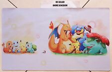 Yugioh Custom Playmat Play Mat Large Mouse Pad Cute Starter Pokemon Pikachu #637