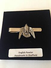 B15 Stooping Falcon  English Pewter emblem on a Tie Clip (slide)