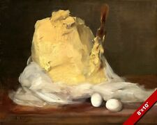 EGGS & BUTTER FRENCH FOOD PASTRY BAKING PAINTING ART REAL CANVAS GICLEE PRINT