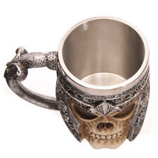 Halloween Drinkware Vessel Gothic Helmet Warrior Tankard Viking Skull Beer Mug