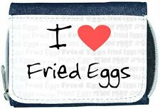 I Love Heart Fried Eggs Denim Wallet