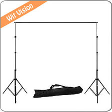 2.6m*3m/8.5ft*9.8ft Photo Background Backdrop Support Stand System Kit Set
