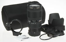 Sigma 70-200mm f/2.8 APO EX DG MACRO HSM for Canon +pouch +ring +hood +UV