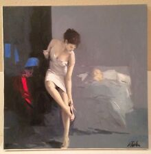"Antonio Tamburro Limited Edition Embellished Giclee on Canvas: ""Night After V"""