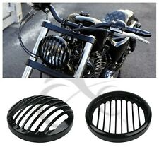 "5 3/4"" CNC Headlight Grill Cover For Harley Sportster XL 883 1200 2004-2014 2005"