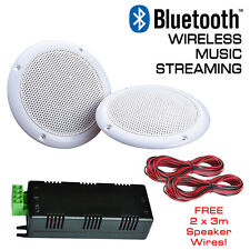 Wireless Bluetooth Ceiling Speakers Water Resistant Stereo Kit - 30 Watts