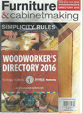FURNITURE & CABINETMAKING, APRIL, 2016  ( DESIGN * INSPIRATION * PROJECTS * )