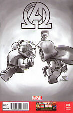 NEW AVENGERS (2012) #11 - Marvel Now! - B&W Lego VARIANT COVER 1:100