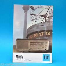 Minetta Volltransist. 5-AM-Kreiser 1976 Prospekt Werbung DEWAG DDR Radio R107 D