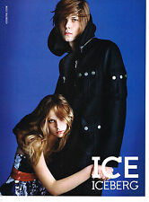 PUBLICITE ADVERTISING 094  2008  ICE ICEBERG  pret à porter caban homme