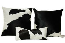 Cowhide Pillow Cover Cushion Cow Hide Hair on cover ( Set of 3  )