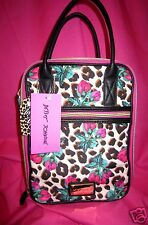 NEW Betsey Johnson CARGO Lunch Tote HAND BAG PURSE Rose Bud Safari Insulated Box