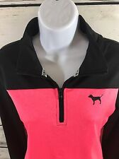 Victoria Secret's PINK Shirt Size SMALL Ultimate Half Zip Pullover Pink EUC