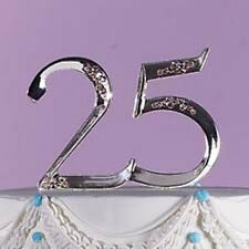 Wilton 25th Wedding Anniversary Cake Topper Silver Pick Retirement 1006-758