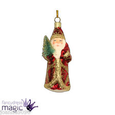 Gisela Graham Vintage Glass Nostalgia Father Christmas Tree Ornament Decoration