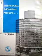 BETTINGER Curtain Wall ASBESTOS Building Panels Catalog 1962 VERMICULITE