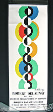 """Delaunay/""""Endless Rhythm""""/1973 Poster/Exhibit Jacques Damase Gallery, Brussels"""