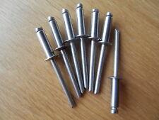 50 rivetage 4x12 pop-rivets 4,0 x 12 Acier Inoxydable a2/a2 rivets v2a Inox Inoxydable