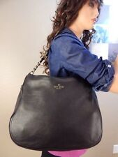 New KATE SPADE Cobble Hill Soft Black Leather Hobo Shoulder Hand Bag Purse Tote