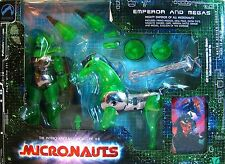 Palisades 2003 Micronauts Emperor and Megas Green & Chrome in Original Package