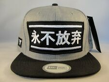 Fallen Never Give Up New Era Snapback Hat Cap Gray Black