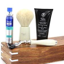 Vintage Barber Salon Badger Cabello Brocha De Afeitar & Razor Set de Regalo 5 Pc Lujo Kit
