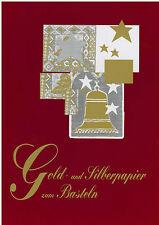 Bastelpapier Papier Silberpapier Goldpapier Gold Silber A4 basteln