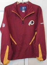 NFL Washington Redskins Quarter Zip Pullover by Reebok Medium