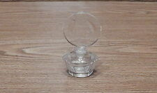 VINTAGE IRICE CUT CRYSTAL PERFUME BOTTLE W/CUT GLASS STOPPER W GERMANY LABEL