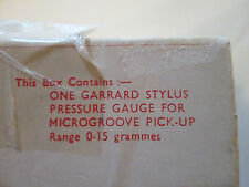 One Garrard Stylus Pressure Gauge For Microgroove Pick Up