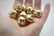 Carved Etched Gold Acrylic Lantern Beads 20mm (8)